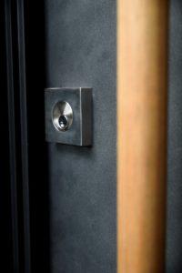 Hardware on Custom Modern Door
